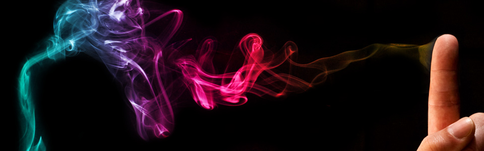 Abstract Art - Coloured Smoke