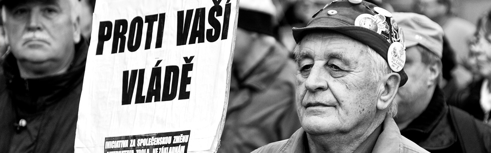 Documentary Photography - Financial Protest in Prague, 2011