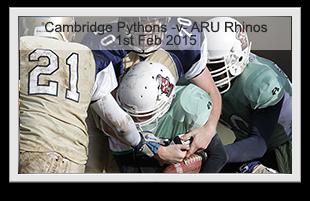 Cambridge Pythons -v- Anglia Ruskin Rhinos