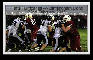 Hertfordshire Hurricanes -v- Birmingham Lions