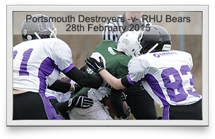 Portsmouth Destroyers -v- Royal Holloway Bears