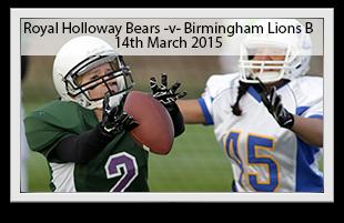 Royal Holloway Bears -v- Birmingham Lions B