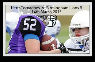 Hertfordshire Tornadoes -v- Birmingham Lions B