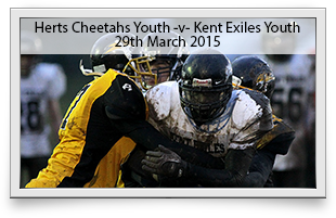 Hertfordshire Cheetahs Youth -v- Kent Exiles Youth